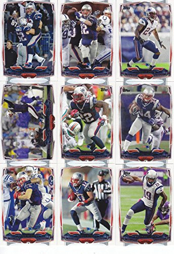 New England Patriots 2014 Topps NFL Football Complete Regular Issue 14 Card Team Set Including Tom Brady, Rob Gronkowski, Darrelle Revis, Julian Edelman, Jimmy Garoppolo Rookie Plus (Rob Gronkowski Football Card)