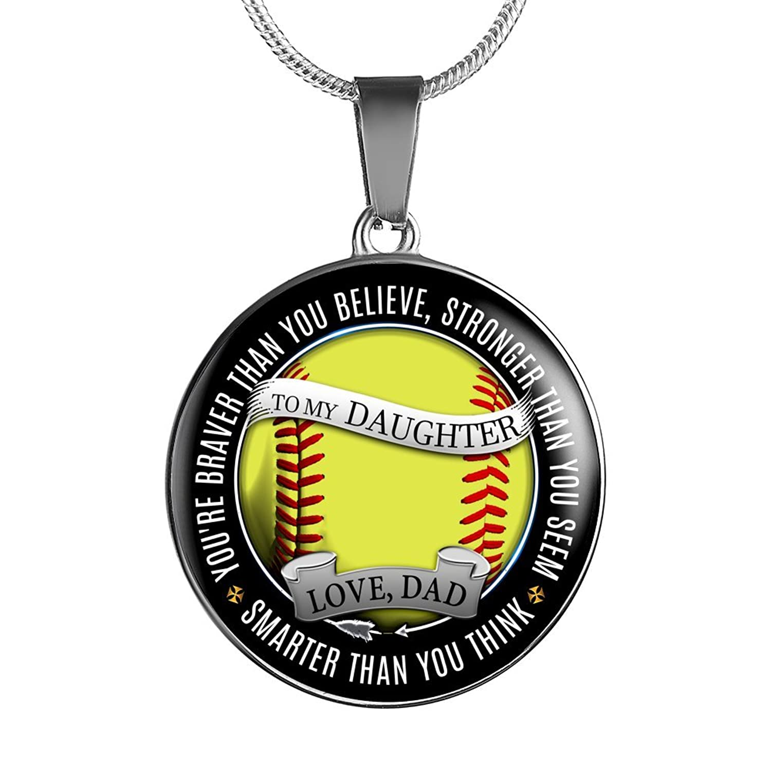 base necklace jewelry softball customizable second sb enamel gimmedat products
