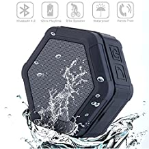 Hilifeone Bluetooth Shower Speaker, Sport Portable Water Resistant Outdoor Mini Wireless Music Stereo Speakers Loud Sound with Microphone and 12 hrs Playtime for iPhone Android Smartphone