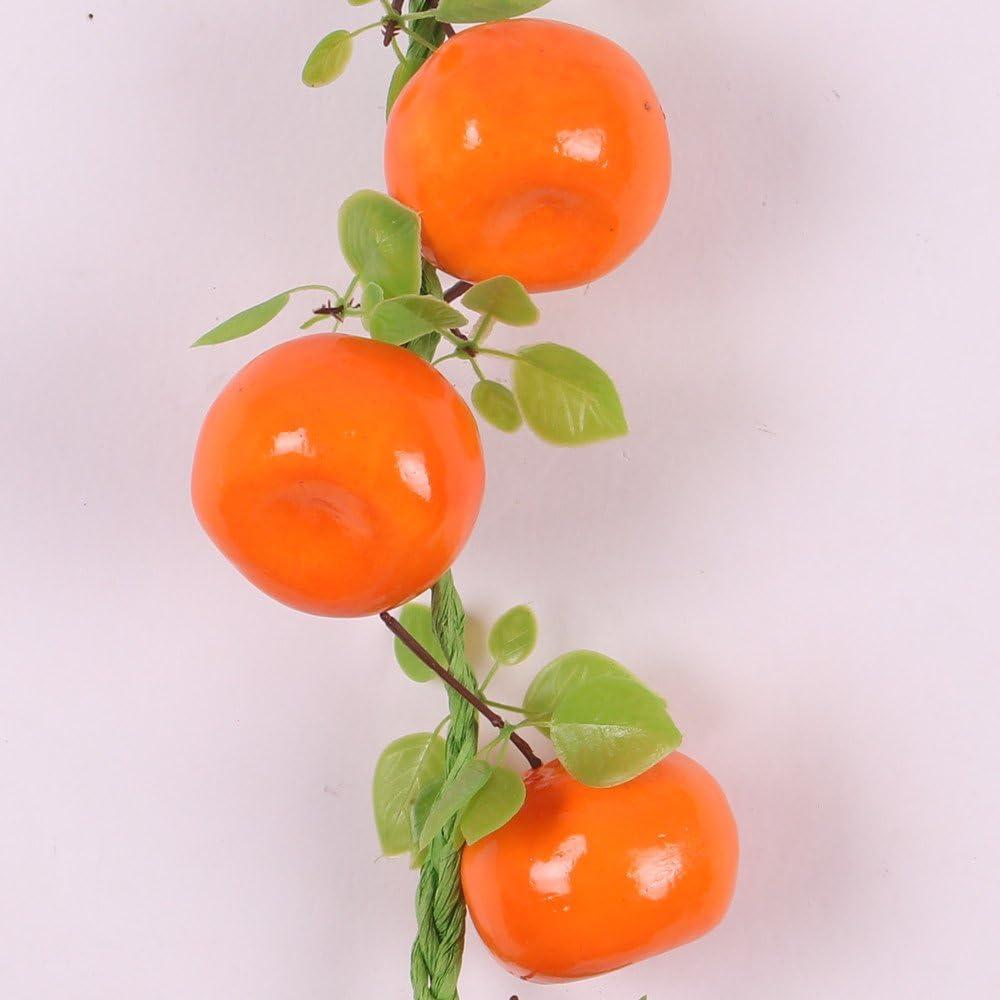 L/égumes Artificiels D/écoration Suspendu pour Cuisine Jardin Lot de 5 Cha/îne de Fruits Jaune citron