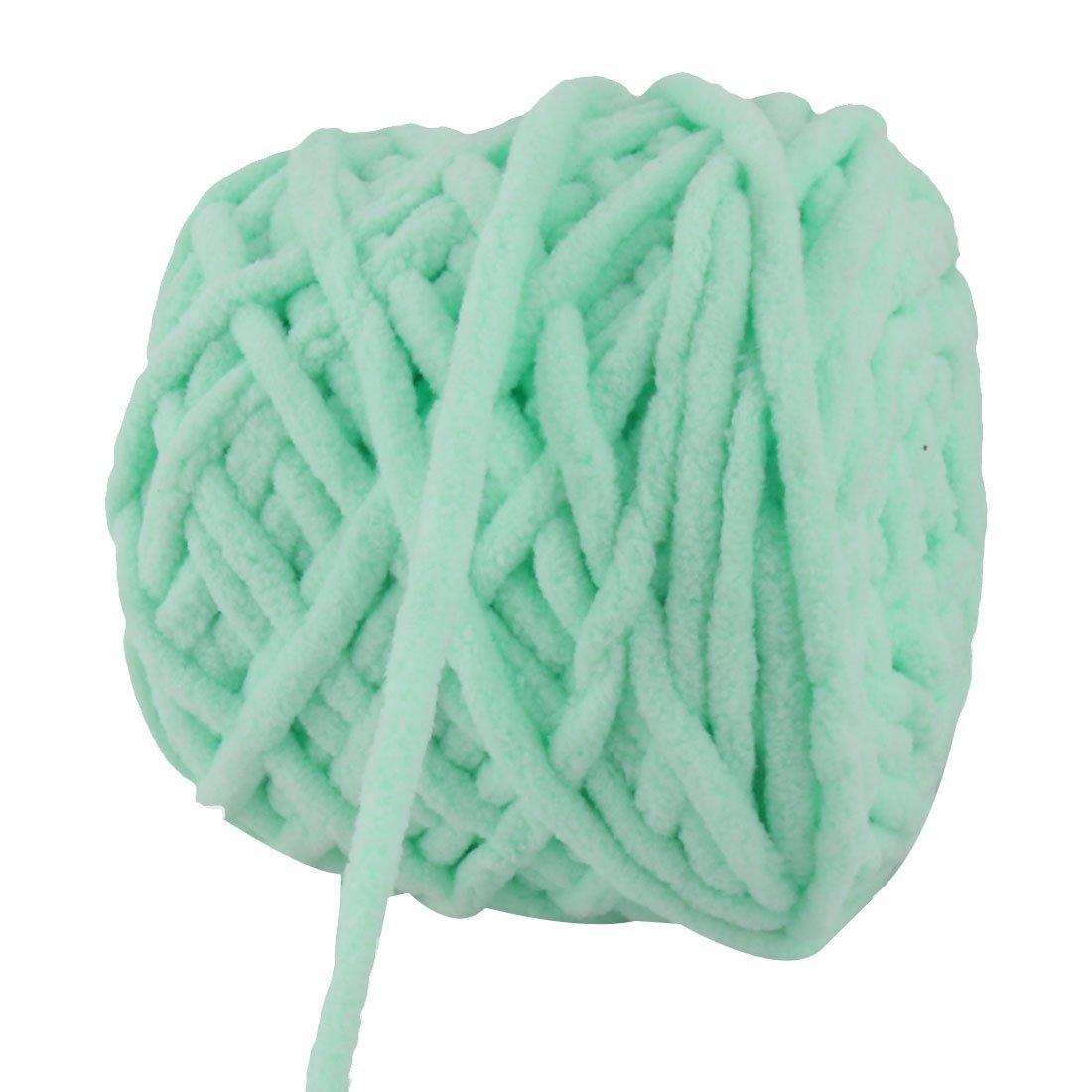 Amazon.com: eDealMax Festival de poliéster del Regalo DIY de la bufanda del suéter el hilado del cordón de cuerda cuerda 100g Verde claro