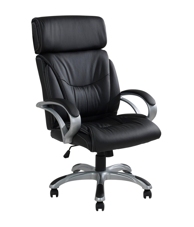 Bürostuhl Schreibtischstuhl Chefsessel Armlehnen verstellbar Kunstleder REINHOLD