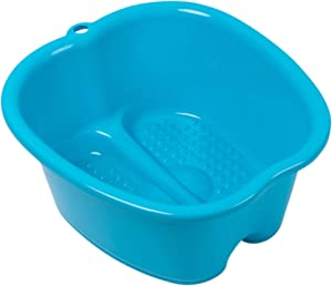 Foot Soaking Bath Basin – Large Size for Soaking Feet | Pedicure and Massager Tub for at Home Spa Treatment | Callus, Fungus, Dead Skin Remover, Blue