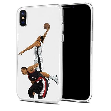 coque iphone xr basketball transparente