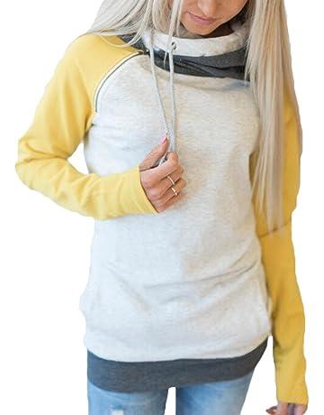 ab price9,99€. Hibote Damen Hoodie Pullover Pulli Langarm Sweatshirt  Elegant Kapuzenpullover Tops Bluse Kapuzen ... 72a12d566d