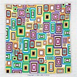 59 x 59 Inches House Decor Fleece Throw Blanket Rectangle Stroke in Different Colors Sizes Picture Frames Ornaments Blanket