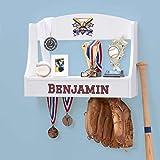 Personalized Trophy Shelf and Medal Holder (Baseball)