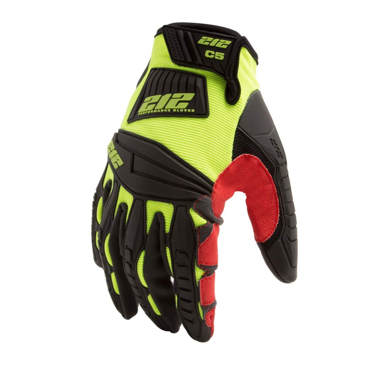212 Performance Gloves IMPC5-88-009 Super Hi-Vis Cut Resistant Gloves (EN Level 5, ANSI A4), Medium