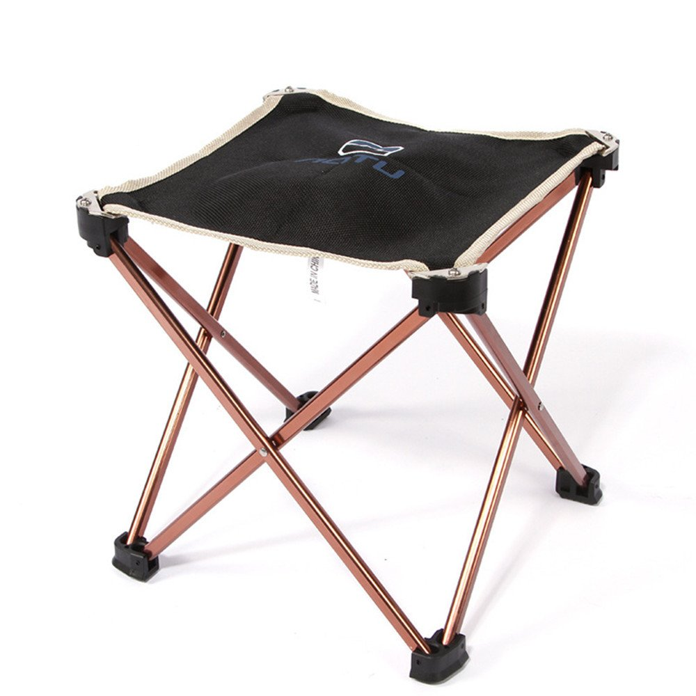 Sammid Aluminum Folding Camping Portable Chair with Black Bag, Mini Portable Folding Stool Chair for Camping, Hiking, Fishing, Beach, Park