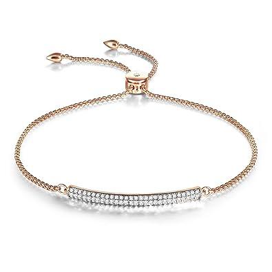 636e757de6ef4 Rose Gold Bangle Bracelet Adjustable Bar Bracelet Jewelry Birthday Gift for  Women