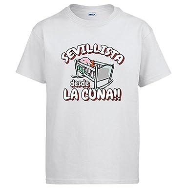 Diver Camisetas Camiseta Sevillista Desde la Cuna Sevilla fútbol: Amazon.es: Ropa y accesorios