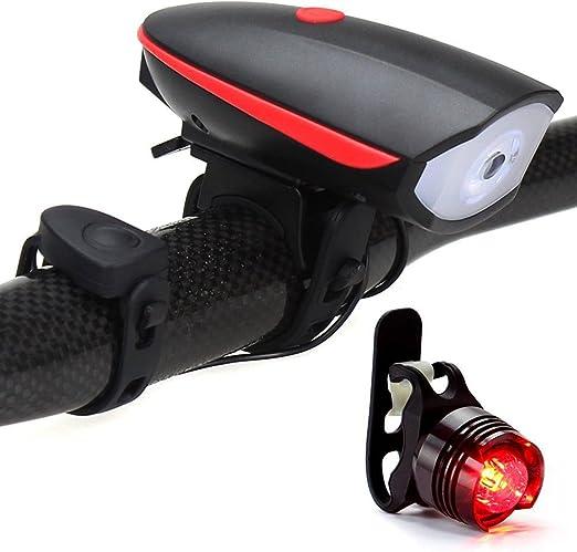 NANE Luz de Bicicleta, Juego de Luces LED para Bicicleta, Carga ...