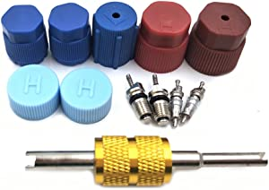 Nikauto 1set Car Cap & Valve Air Conditioning System Seal Kit R12 R134a Replacement Parts Auot AC Compressor Repairing Parts