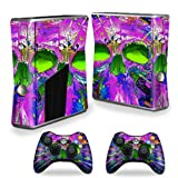 xbox 360 slim skins for console - MightySkins Protective Vinyl Skin Decal Cover for Microsoft Xbox 360 S Slim + 2 Controller skins wrap sticker skins Hard Wired