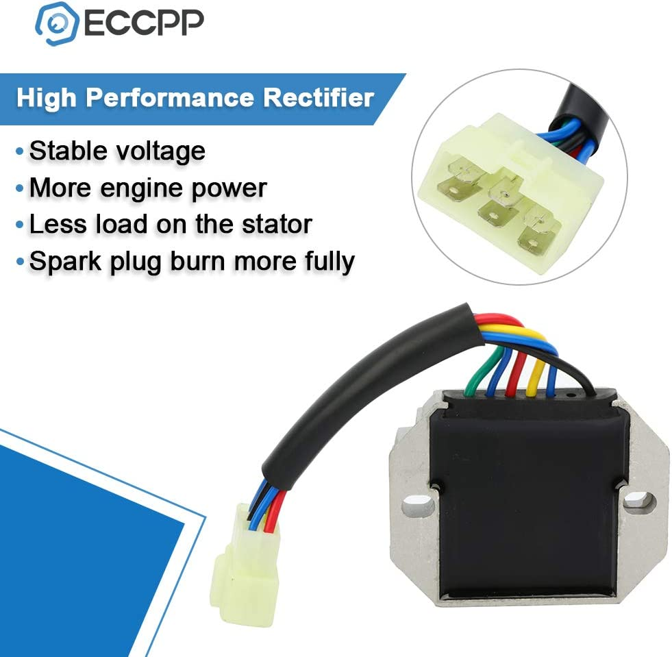 ECCPP Voltage Regulator Rectifier Fit for John Deere 2210 John Deere 2305 John Deere 23 John Deere 25 John Deere 4010 John Deere 4100 John Deere 4110 John Deere 4115 185530 Rectifier Regulator