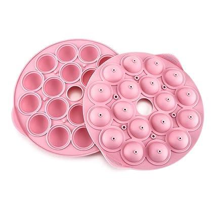 Gabriera Redondo de silicona Candy moldes Chocolate Truffles Lollipop Mold casera molde para hornear forma de