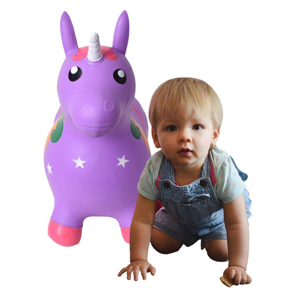 TE-Trend Cavalier Animal /à sauter Licorne Cheval /à sauter jusqu/à 50kg r/ésiliente en violet ou rose mauve