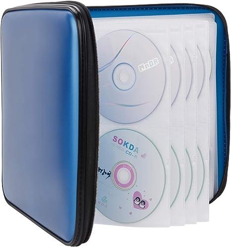 Coofit 160 Pcs Rangement Cd Range Cd En Plastic Pochette Cd Rangement Dvd 160 Bleu Amazon Fr Bagages