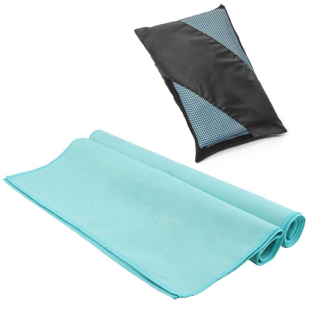 Serviette microfibre, EveShine Serviette de sport ultra compacte, absorbante et séchage rapide pour camping, plage, piscine, gym, yoga, pilates ou bain - 27,6 pouces x 55 pouces