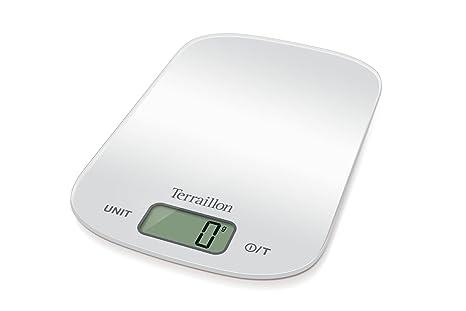 Terraillon KEG52018SL Rectángulo Báscula electrónica de cocina Plata - Báscula de cocina (Báscula electrónica de