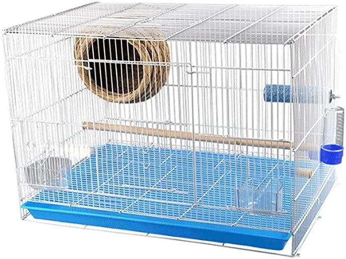 Jaulas para pájaros Parakeet Cuadrado Parrot Jaula Economía doméstica Jaula de pájaros Suministros para Mascotas (tamaño : S)