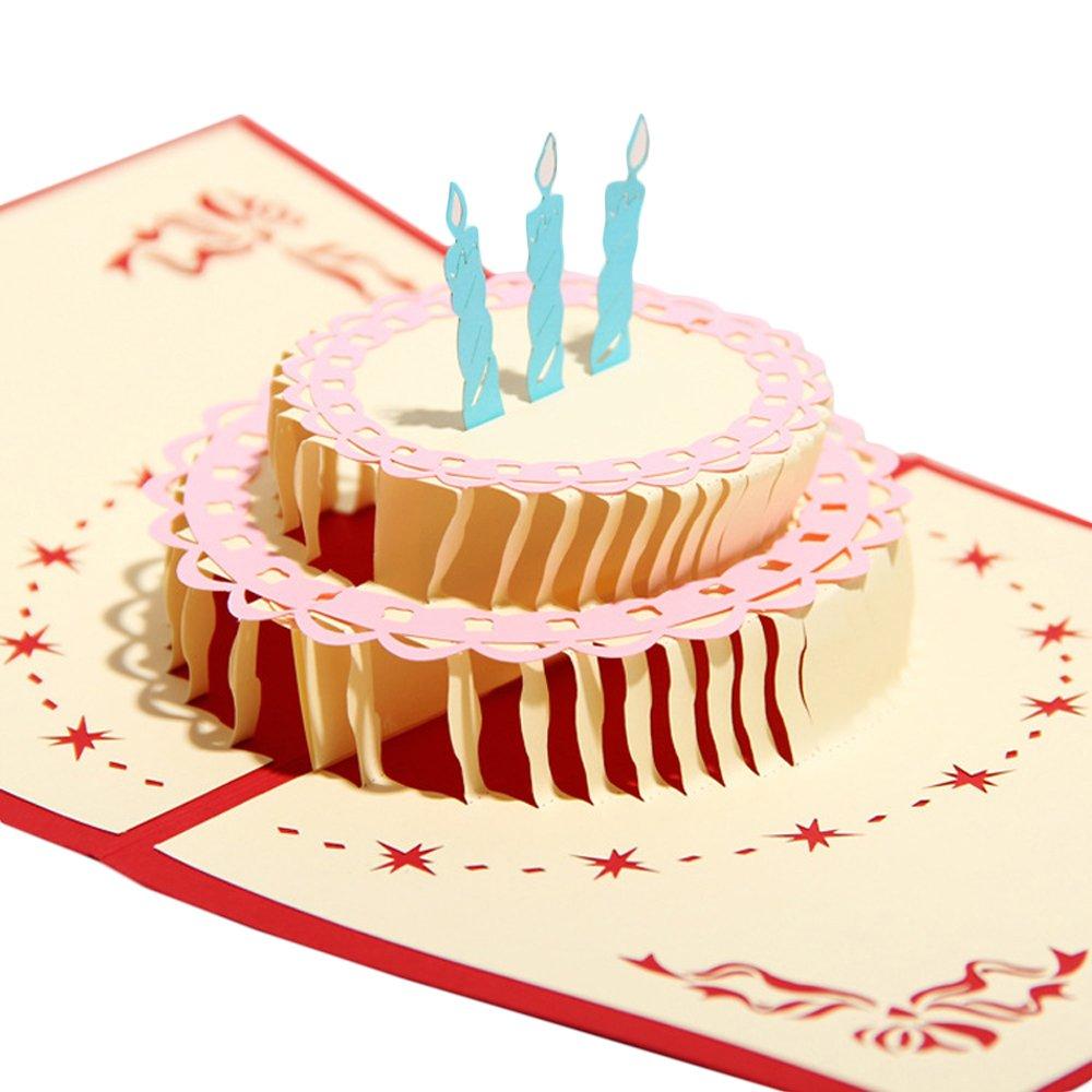 Amazon idBirthday Cards Papercraft PopUp 3D Birthday Cake – Pop Up Birthday Cake Card
