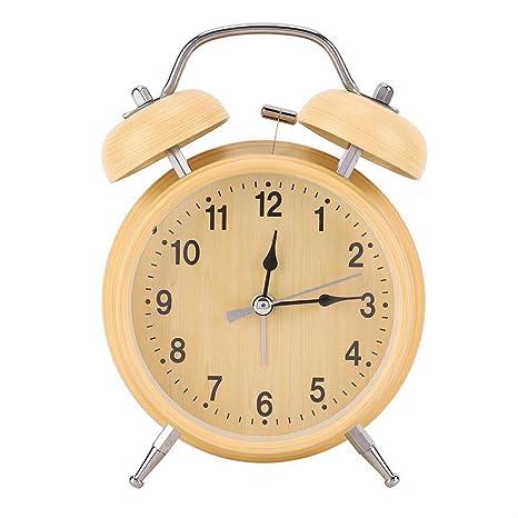 Amazon.com: AUNMAS Reloj despertador mecánico retro, manual ...