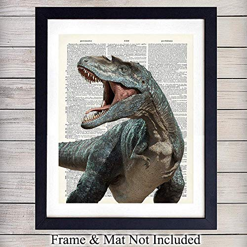 int on Dictionary Photo - Ready to Frame (8X10) Vintage Photo - Great Home Decor or Gift For Boys Room or Nursery and Tyrannosaurus Rex Lovers ()