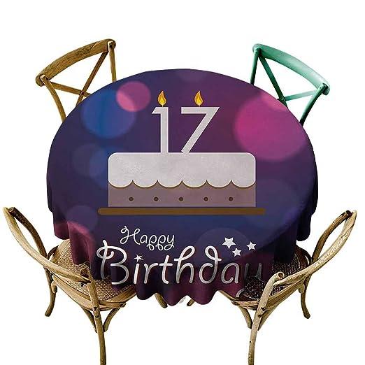 Zmlove - Mantel antiincrustante para 17 cumpleaños, diseño ...