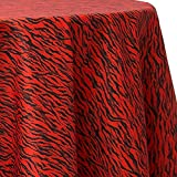Ultimate Textile Tiger Animal Print Red 60 x 120-Inch Oval Tablecloth