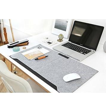 Stupendous Sztara Multifunctional Felt Desk Mat Laotop Key Board Mouse Pad Large 64 X 33 Cm 25 2 X 13 Inch Table Organiser For Home Office Laptops Desktops Beutiful Home Inspiration Ommitmahrainfo