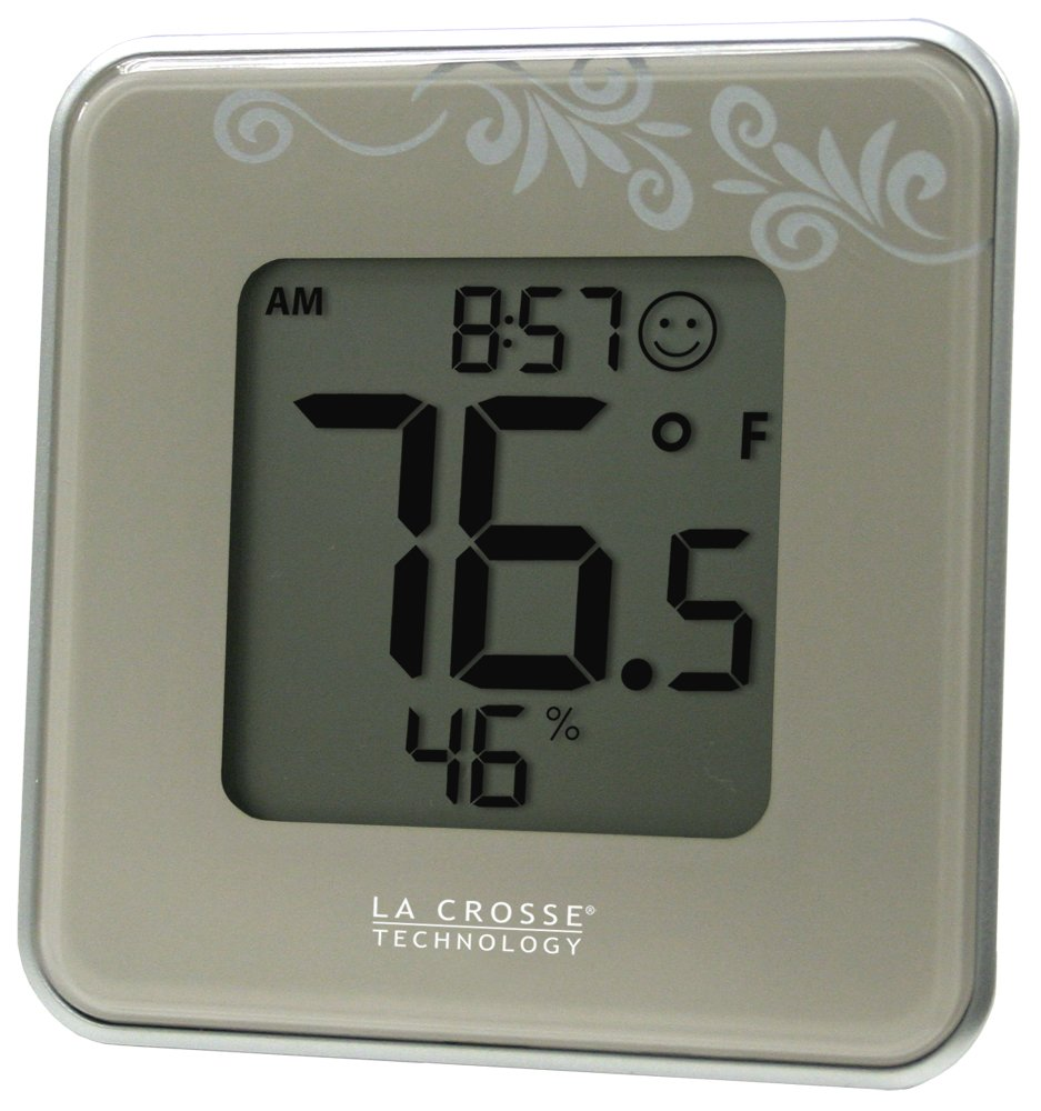 La Crosse Technology 302-604S Silver Indoor Digital Thermometer & Hygrometer Station with MIN/MAX records & Comfort level icon by La Crosse Technology (Image #1)