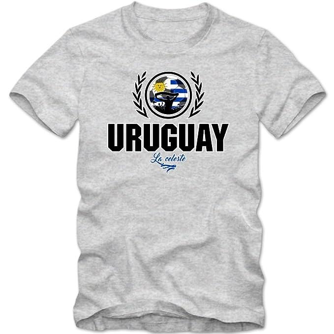 Shirt Happenz Fútbol Uruguay V2 Camiseta | Hombre | Fútbol | La Celeste | Jersey | Equipo Nacional: Amazon.es: Ropa y accesorios