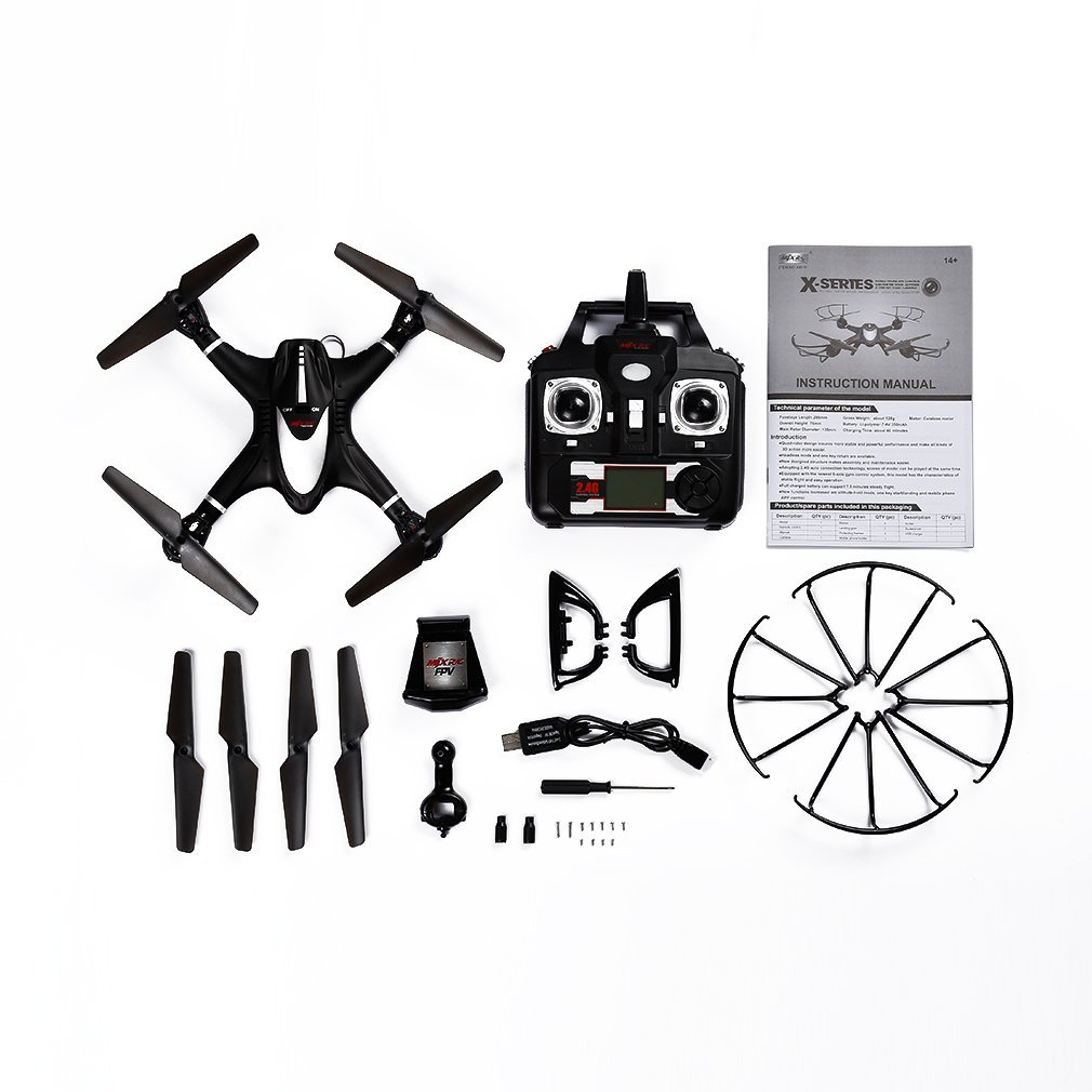 Juweishangmao 2.4GHz 4 Channel WiFi FPV 6 Axis Gyro Drone 0.3MP Camera for MJX X401H