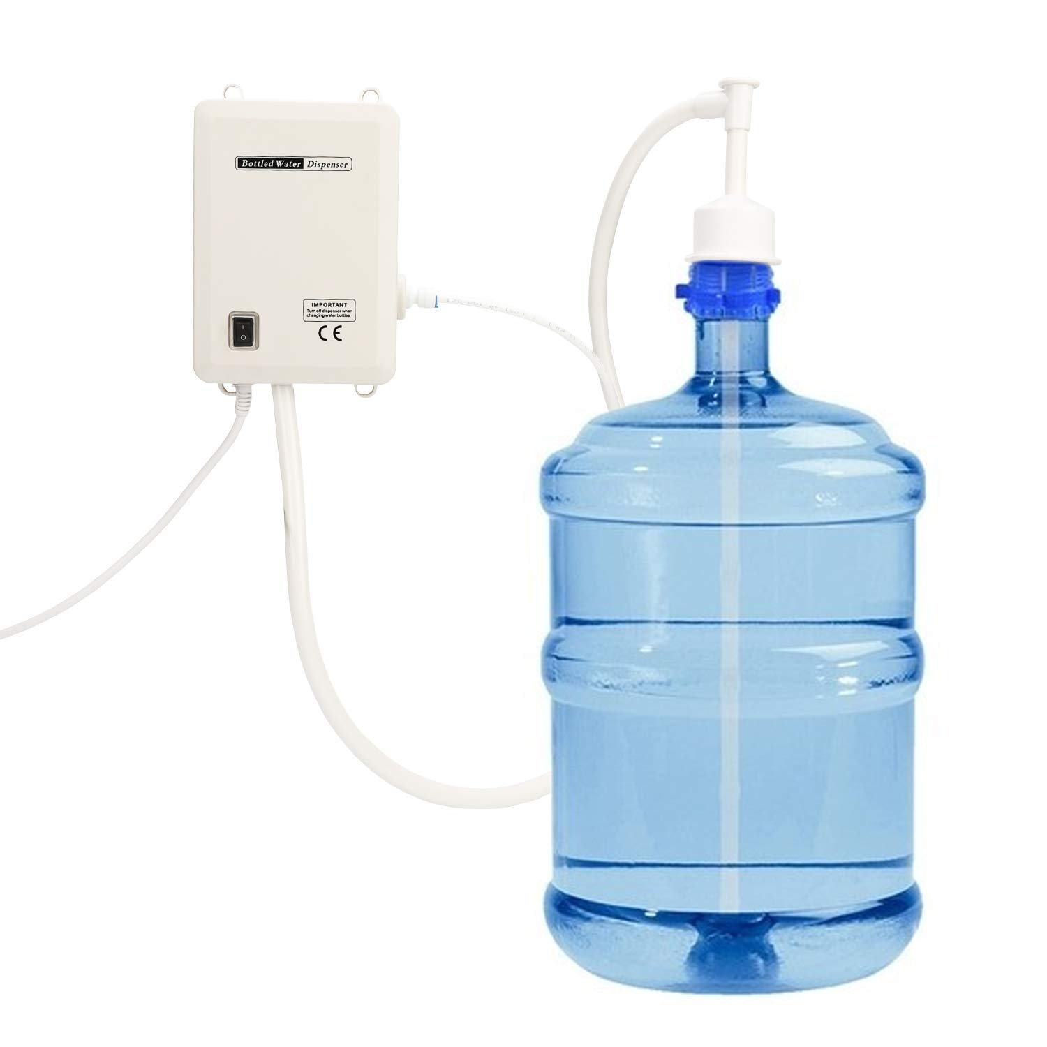 Bottled Water Pump System, Water Dispensing Pump System with Single Inlet 110V AC US Plug Compatible Use with Coffee/Tea Machines, Water Dispensers, Refrigerators, Ice Makers by Miuiui