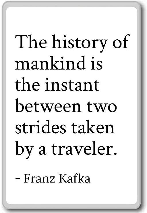 Imán para nevera con cita de Franz Kafka, la historia de la ...