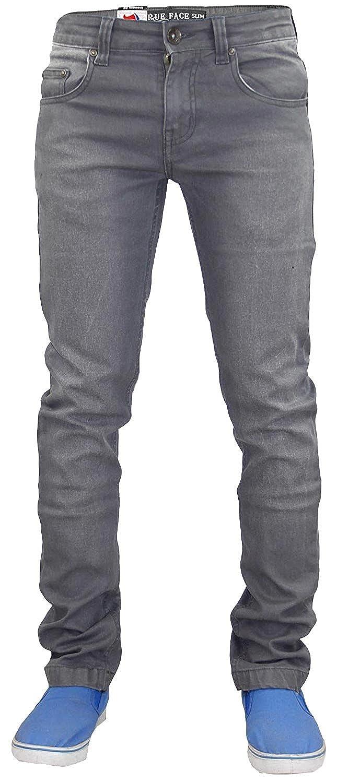 TALLA 28W / 32L. Pantalones vaqueros True Face ajustados y elásticos de algodón para hombre