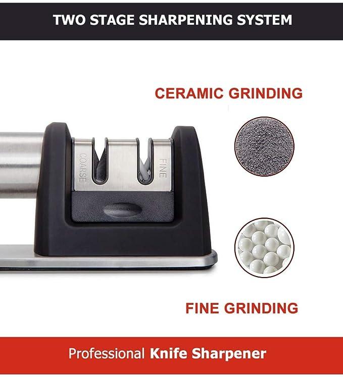 Amazon.com: Afilador de cuchillos de cocina Swiss Cas, para ...