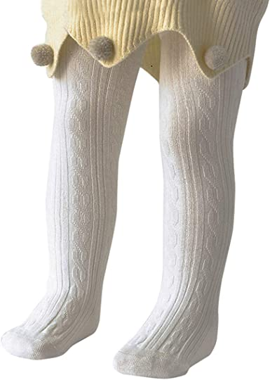 Zando Soft Baby Tights Cute Cable Knit Baby Socks Infant Tights for Baby Girls Leggings Stockings Toddler Cotton Tights
