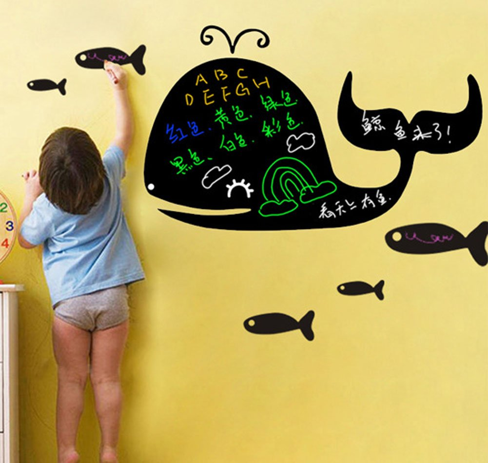 Amazon.com: Fangeplus(TM) DIY Removable Whale Blackboard Art Mural ...