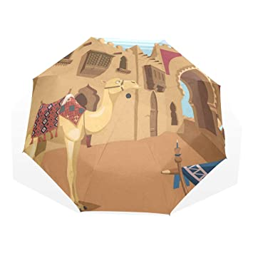 Amazon com: Umbrella Cartoon Camel Travel Golf Sun Rain