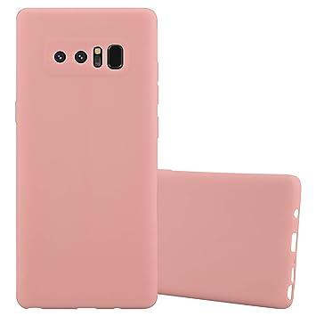 Cadorabo Funda para Samsung Galaxy Note 8 en Candy Rosa – Cubierta Proteccíon de Silicona TPU Delgada e Flexible con Antichoque – Gel Case Cover ...