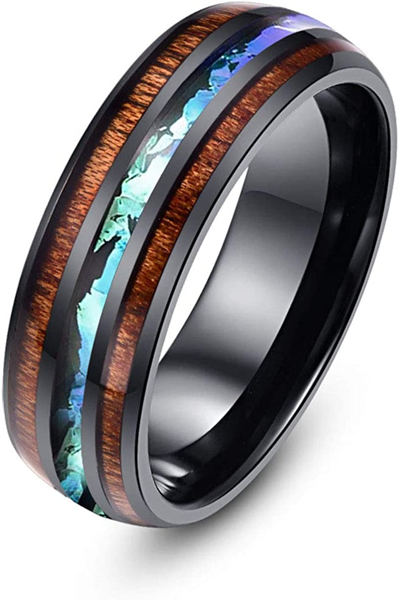 minimalistic ring wedding bands ring abalone ring engagement ring promise ring for men bands ring wooden bands wood rings for women 5 Year
