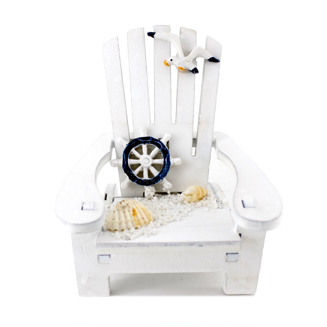 "Handmade Cute White Rudder ""Sunshine Chair"" Home Decor Article,photograph Setting"