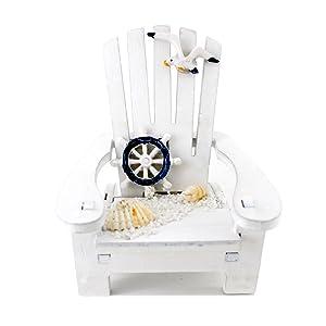 "Handmade Cute White Rudder ""Sunshine Chair"" Home Decor Article,photograph Setting"