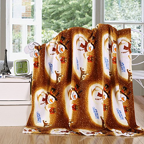 Elegant Comfort Velvet Touch Ultra Plush Christmas Holiday Printed Fleece Throw/Blanket-50 x 60inch, Tropical Santa ()