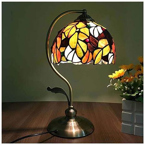 Lámpara de mesa mediterránea - Flor Vintage Lámpara de mesa ...