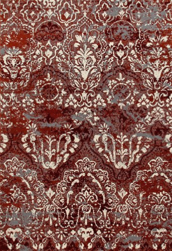 Art Carpet Bastille Collection Emerge Woven Area Rug, 2' x 4', Red/Linen from Art Carpet