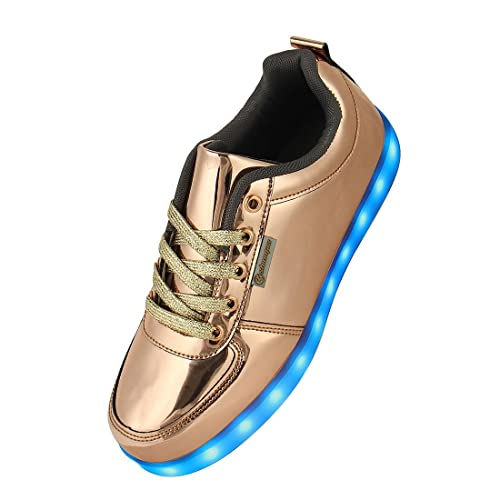 Shinmax, scarpe con luce a LED in 7 colori LED ricaricabile con USB, scarpe unisex da uomo e donna con USB ricaricabili,