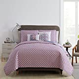 VCNY Home Azure Quilt Set, King, Pink